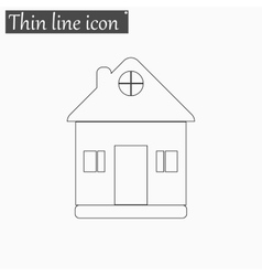 Home icon Style thin line vector image