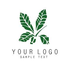 Plant symbol vector image vector image