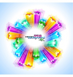 rainbow stars background vector image vector image