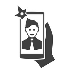 selfi on the smartphone modern icon vector image vector image