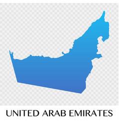 United arab emirates map in asia continent design vector