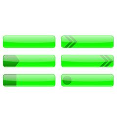 website green menu buttons vector image
