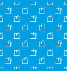 3d printer frame pattern seamless blue vector image