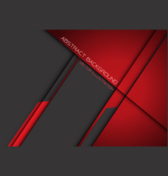 abstract dark red grey metallic overlap vector image