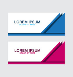 abstract design banner web template vector image