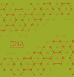 Abstract dna strand symbol isolated on white vector