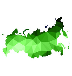 Abstract russia map consists of polygon of vector