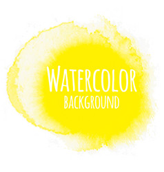 Abstract watercolor background yellow color vector