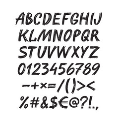 Alphabet sketch handwritten font vector