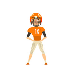 american football player wearing uniform vector image