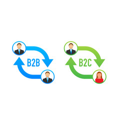 B2b and b2c icon business to business concept vector
