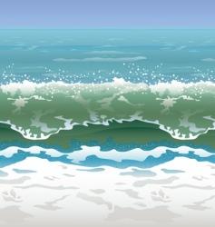 Beach scene vector