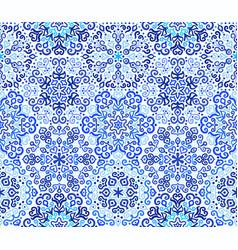 blue background floral weave pattern vector image