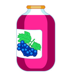 blue berry juice icon vector image