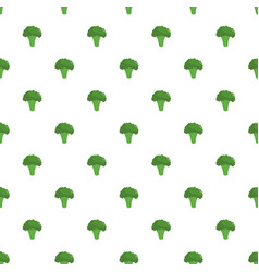 broccoli pattern seamless vector image
