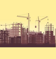 Buildings under construction in process urban vector