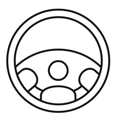 car steering wheel icon outline style vector image