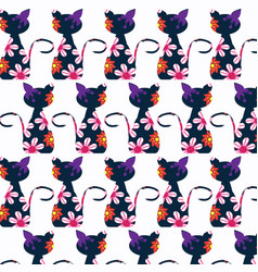 cat background design image vector image