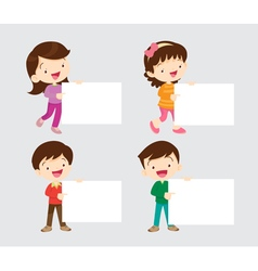 Children with board vector image