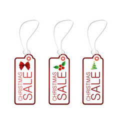 Christmas sale tag red vector
