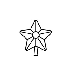 christmas star outline icon element of new year vector image