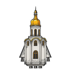 church as space rocket sketch vector image