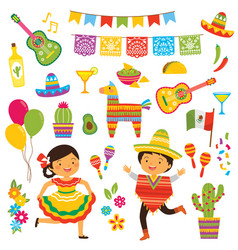 cinco de mayo clipart set vector image