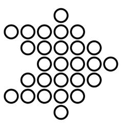Circle Arrow Right Stroke Icon vector