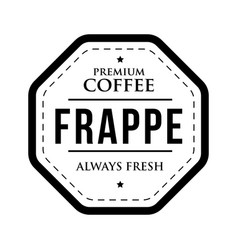 coffee frappe vintage stamp vector image