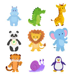 collection funny animals vector image
