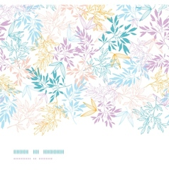 Colorful pastel branches horizontal seamless vector image
