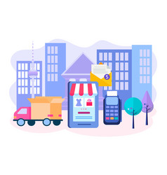 concept delivery goods vector image