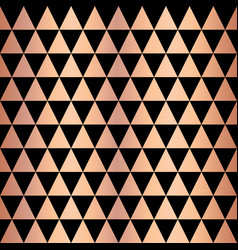 Copper foil triangle geometric seamless pattern vector