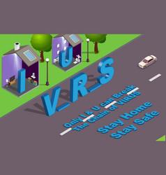 Coronavirus awareness without u i vector