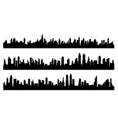 Creative city silhouette vector