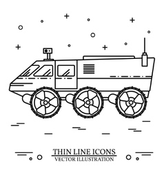 Cross-country vehicle on the white background vector
