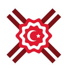 Cumhuriyet bayrami moon and star symbol in lace vector