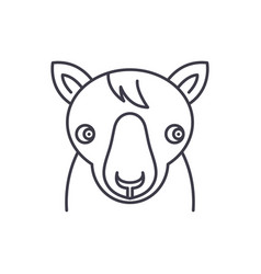 cute horse line icon concept cute horse vector image