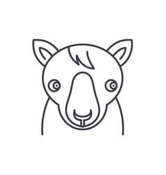 cute horse line icon concept cute horse vector image