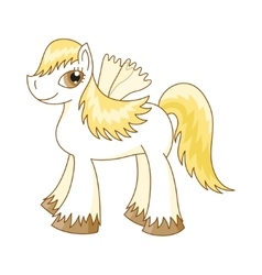 Cute horse royal pony vector