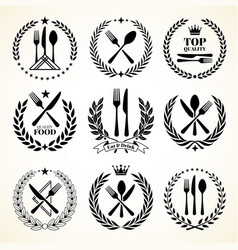 cutlery sketch vintage dinner table silverware vector image