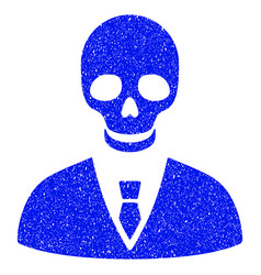 Deadly manager grunge icon vector