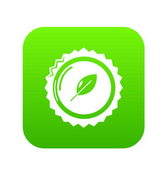 Dietary drink cap icon green vector