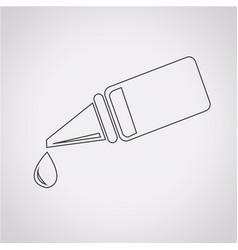Ear or eye drop icon vector