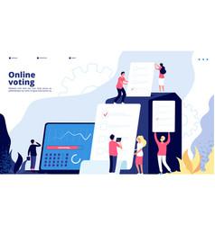 Election landing online voting people vote vector
