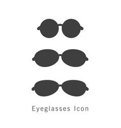 eyeglasses icon set vector image