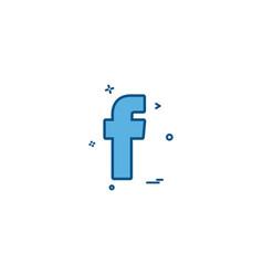 Facebook social icon design vector