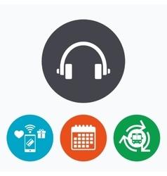 Headphones sign icon Earphones button vector image vector image