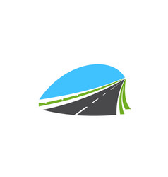 highway icon road isolated pathway sign vector image