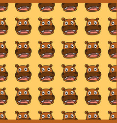 Hippo seamless pattern vector
